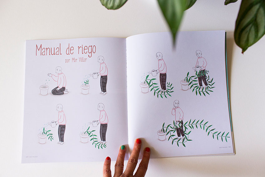 Ilustración de plantas, Mar Villar, botanical illustration, plant story,