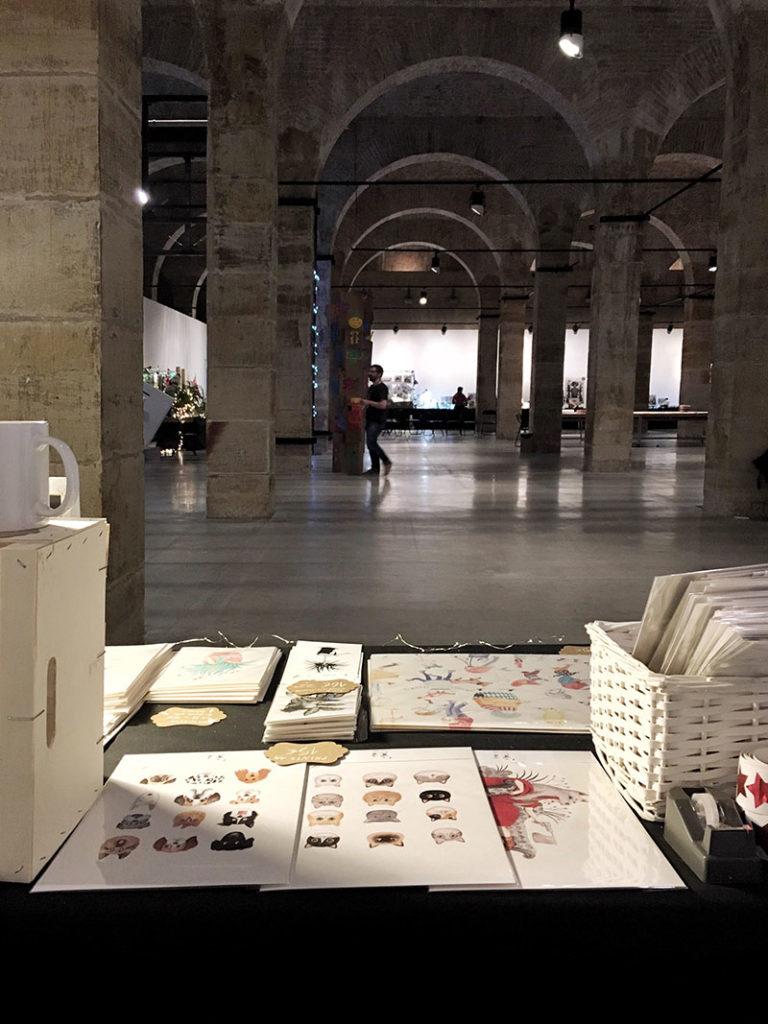 Mazoka 2017, Centro cultural Montehermoso, depósito de aguas, mercado de ilustración, stand de ilustración, Mar Villar, feria de ilustración