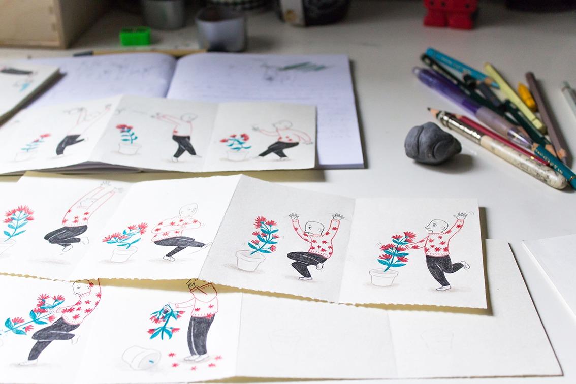 Viñetas sobre plantas, ilustracion de plantas, ilustracion botanica, ilustracion sobre cuidado de plantas, abonar plantas, regar plantas, ilustracion de humor, Mar Villar, botanical illustration, plants illustration,