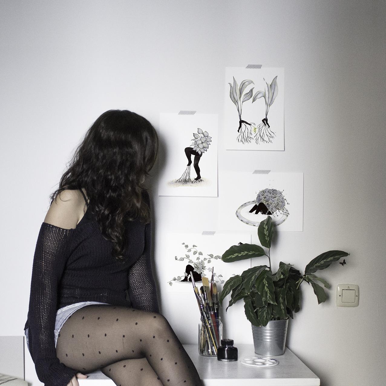 Inktober, botanical art, botanical illustration, Mar Villar,