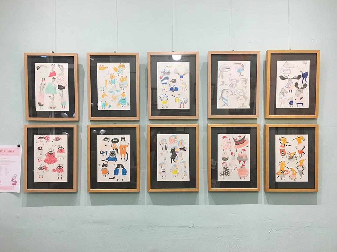 Animaladas, exposición, Estudio 64, Valencia, Benimaclet, exposición de ilustraciones, dibujos de animales, Mar Villar,