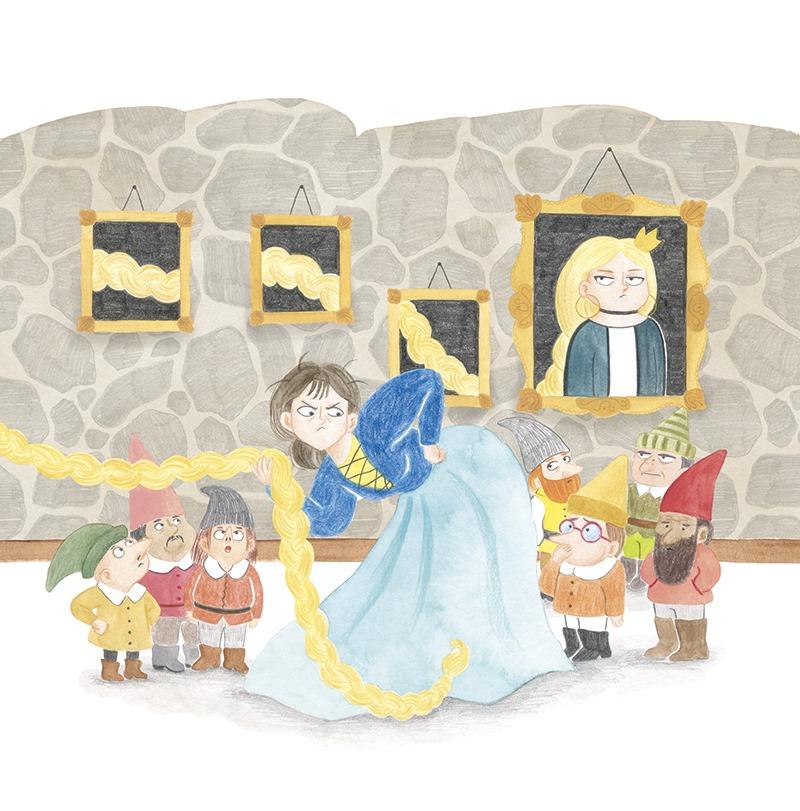 Rapunzel con piojos, El Hematocrítco, Anaya, cuentos clásicos, Feliz Feroz, piojos, parodia de personajes de cuentos clásicos, Bancanieves y los siete enanitos,