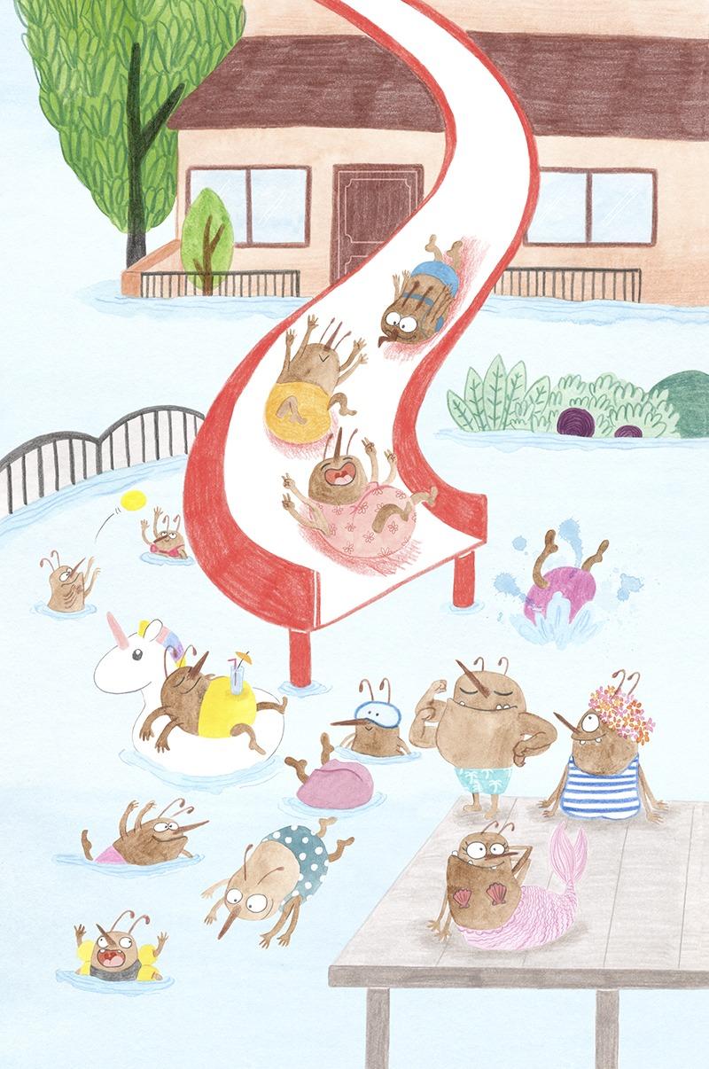 Rapunzel con piojos, El Hematocrítco, Anaya, cuentos clásicos, Feliz Feroz, piojos, parodia de personajes de cuentos clásicos, Villa Piojo, parque acuático,