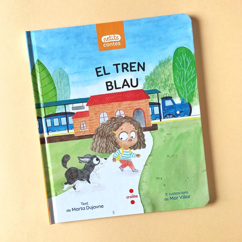 El Tren Blau, Marta Dujovne, cruïlla, ilustración de trenes, ilustración infantil, ilustración para niños, libros para primeros lectores, petits contes,