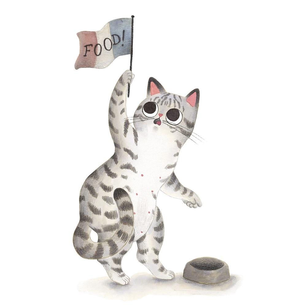 Inktober 2019, ilustración de gato, ilustración a tinta, La libertad guiando al pueblo, Louvre, Delacroix, historia del arte,