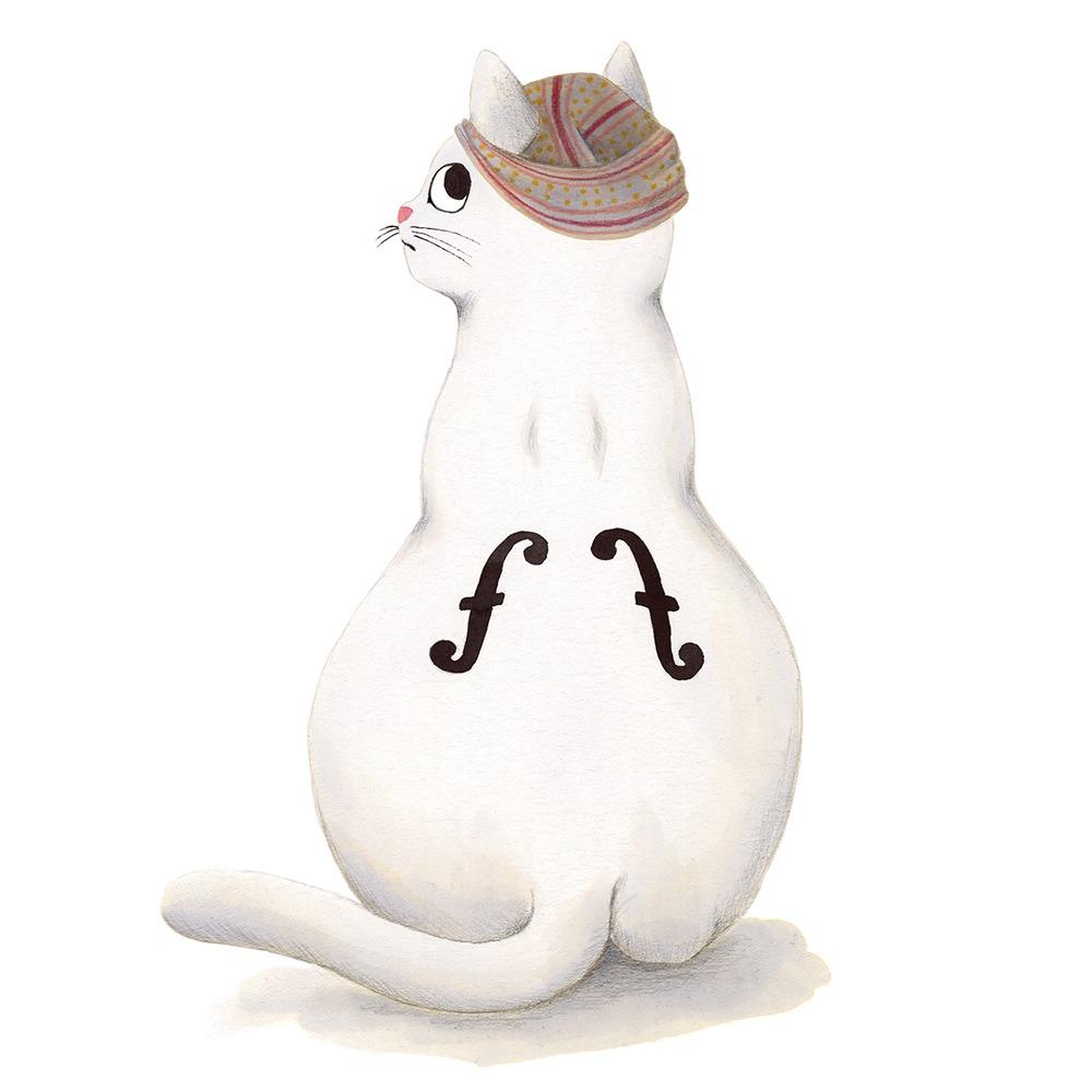 Inktober 2019, ilustración de gato, ilustración a tinta, historia del arte, Man Ray, El violín de Ingres, Centre Pompidou,
