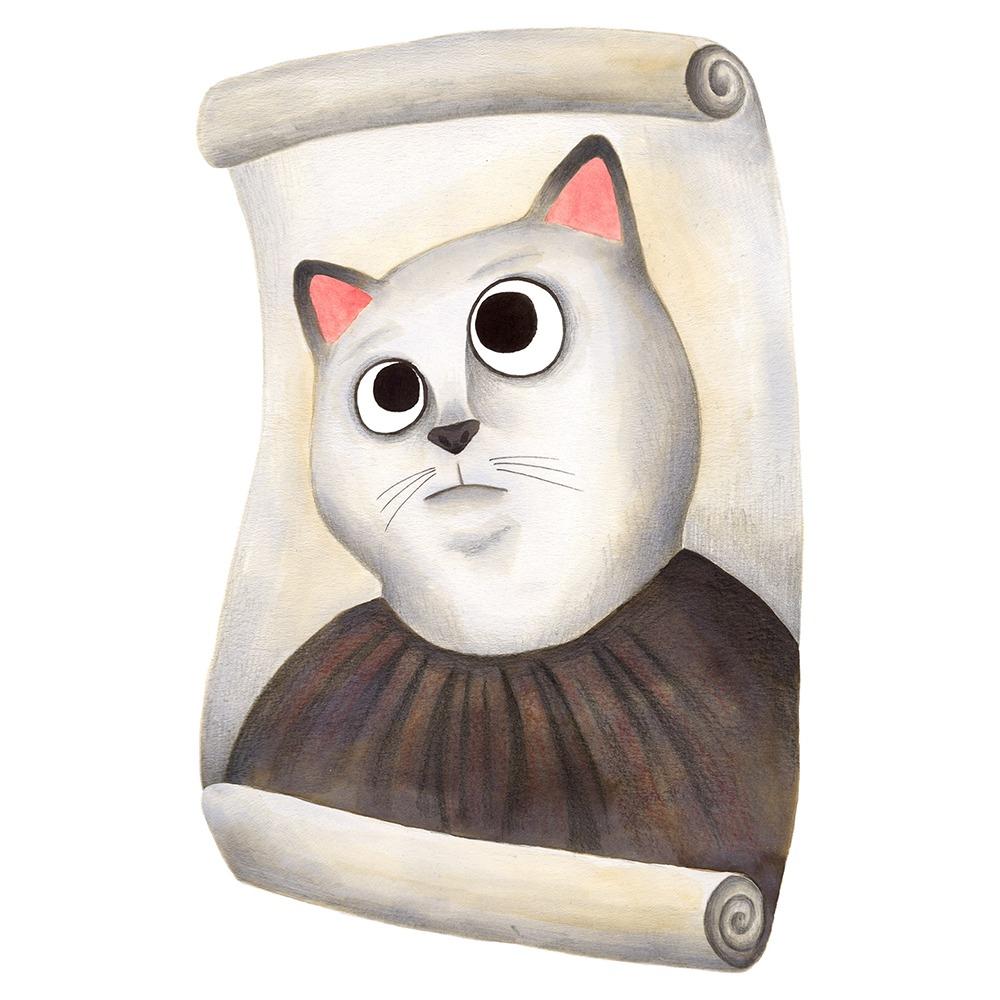 Inktober 2019, ilustración de gato, ilustración a tinta, historia del arte, Ecce Homo de Borja, Doña Cecilia,