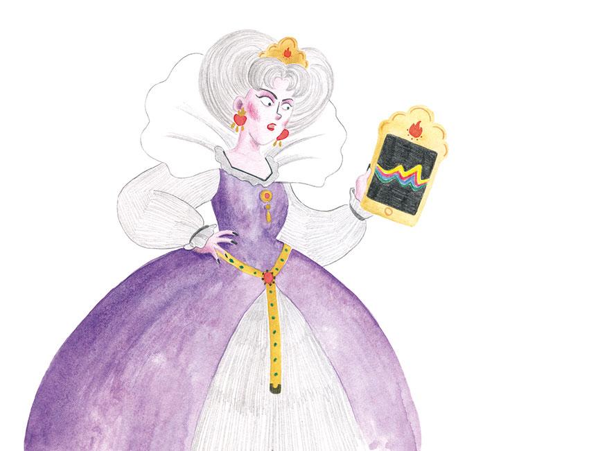 Excelentísima Caperucita, El Hematocrítco, Anaya, cuentos clásicos, Feliz Feroz, parodia de personajes de cuentos clásicos, madrastra, espejito mágico,