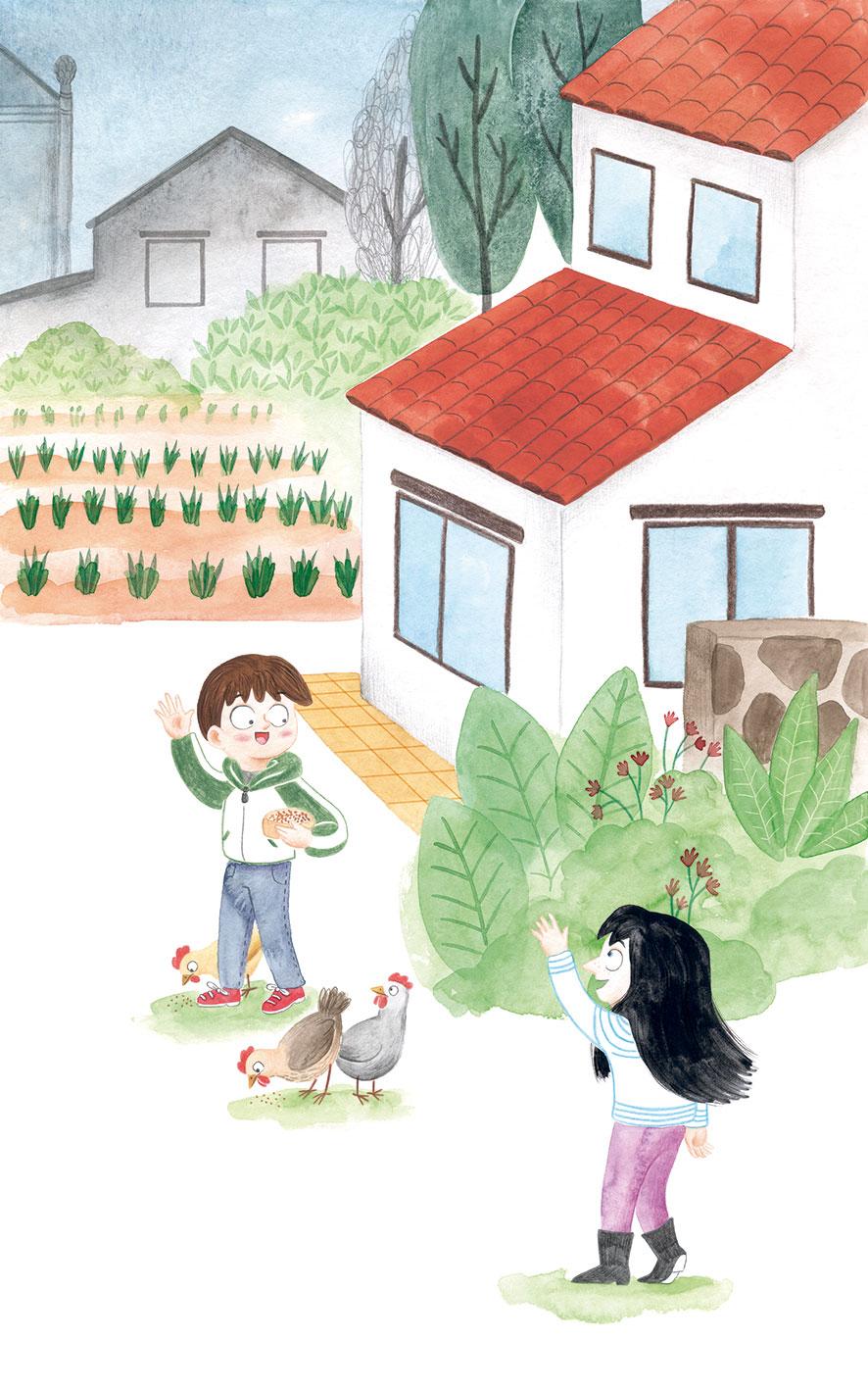 O misterio dos fillos de Lúa, SM, Xerme, El Barco de Vapor, serie naranja, Fina Casalderrey, ilustración con niños, ilustración infantil,