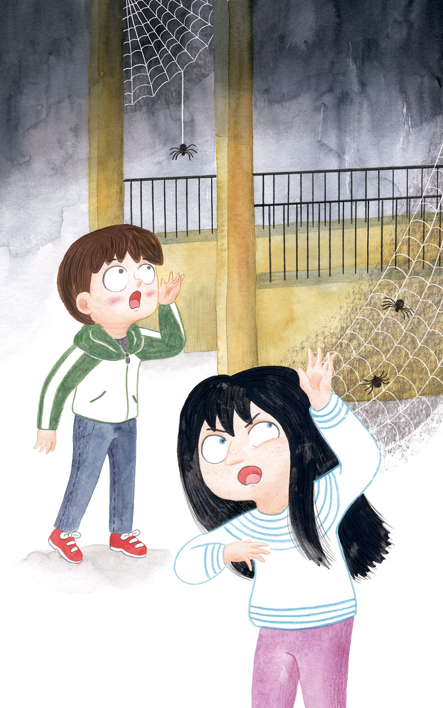 O misterio dos fillos de Lúa, SM, Xerme, El Barco de Vapor, serie naranja, Fina Casalderrey, ilustración de gatos, ilustración infantil, ilustración de escena de noche,