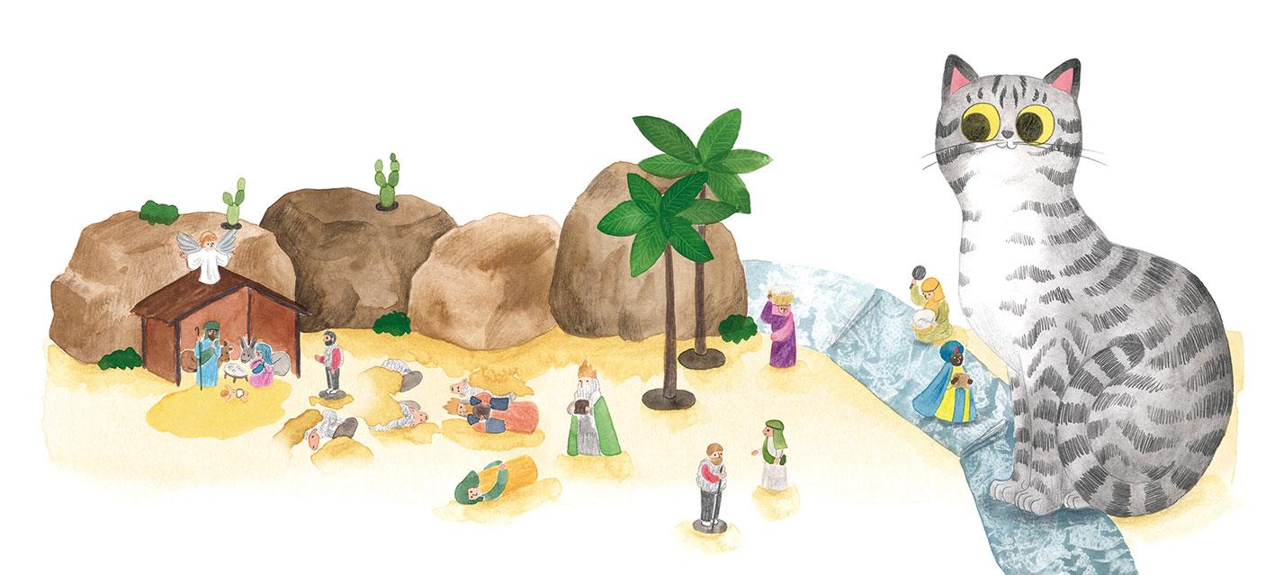O misterio dos fillos de Lúa, SM, Xerme, El Barco de Vapor, serie naranja, Fina Casalderrey, ilustración de gatos, ilustración infantil, ilustración de belén,