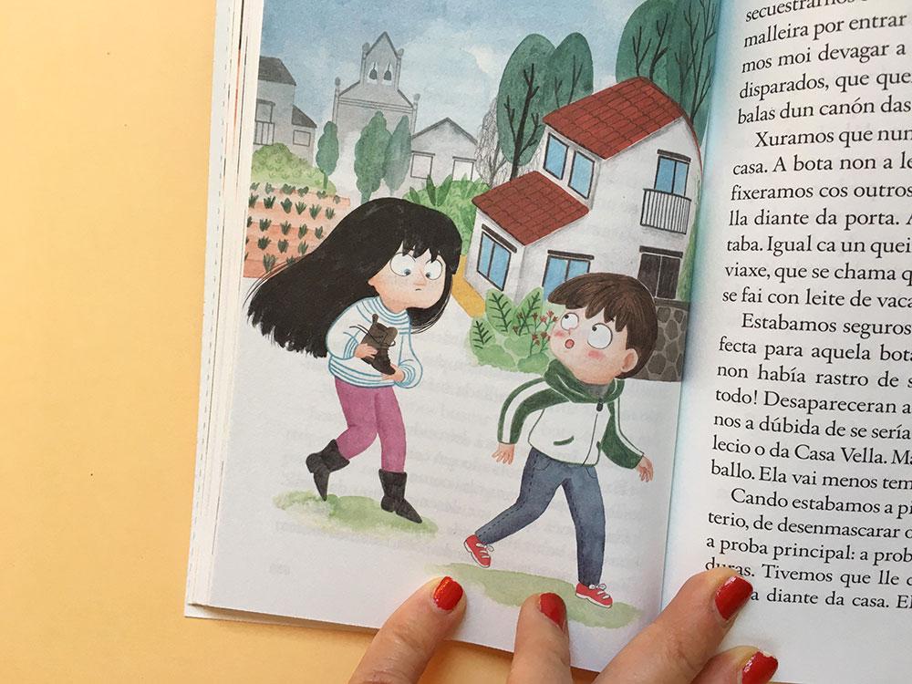 O misterio dos fillos de Lúa, SM, Xerme, El Barco de Vapor, serie naranja, Fina Casalderrey, ilustración de gatos, ilustración infantil,