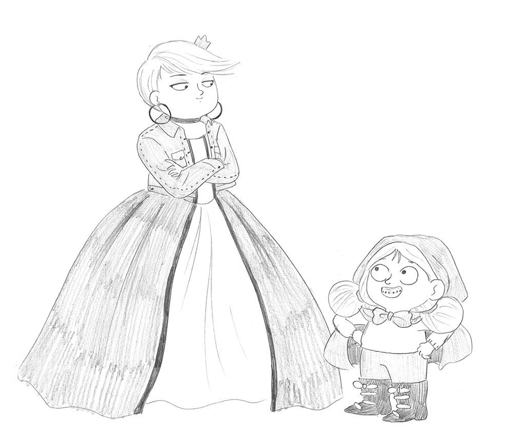 Excelentisima Caperucita, diseño de personajes, personajes de cuentos clásicos, Caperucita Roja, Rapunzel,