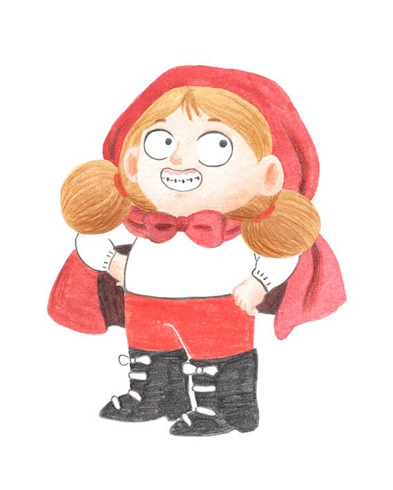 Excelentisima Caperucita, Caperucita Roja, diseño de personajes, cuentos clásicos,