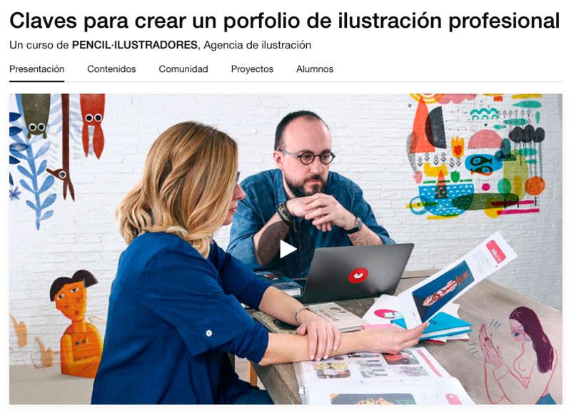 como crear un portfolio de ilustracion, portfolio ilustradora, portfolio online, consejos para crear un portfolio de ilustracion, curso portfolio Domestika, cursos Domestika, claves para crear un portfolio de ilustracion profesional,