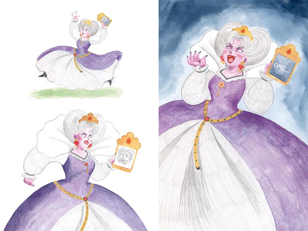 Madrastra, diseño de personajes, personajes de cuentos clásicos,