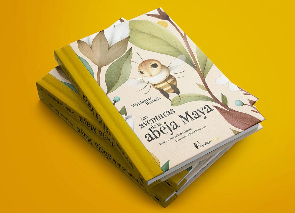 Nórdica libros, Ester Garcia, La Abeja Maya, álbum ilustrado, libros infantiles para regalar en Navidad,
