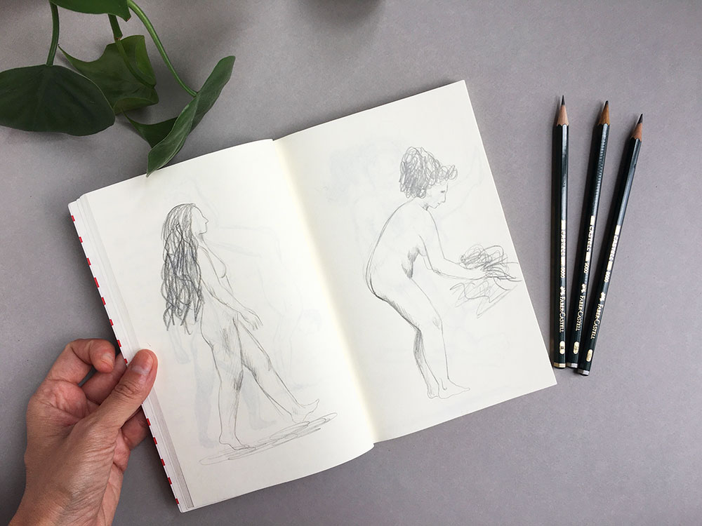 cuaderno de bocetos, dibujar poses,