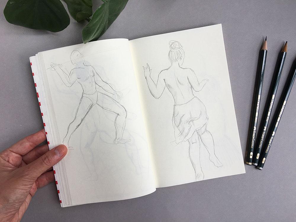Cuadernos de dibujo, cuaderno de bocetos, dibujar poses,