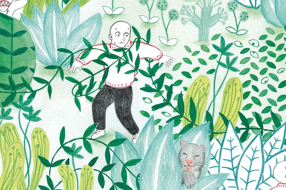 burnout o agotamiento creativo, enredado, ilustración de plantas, Mar Villar,