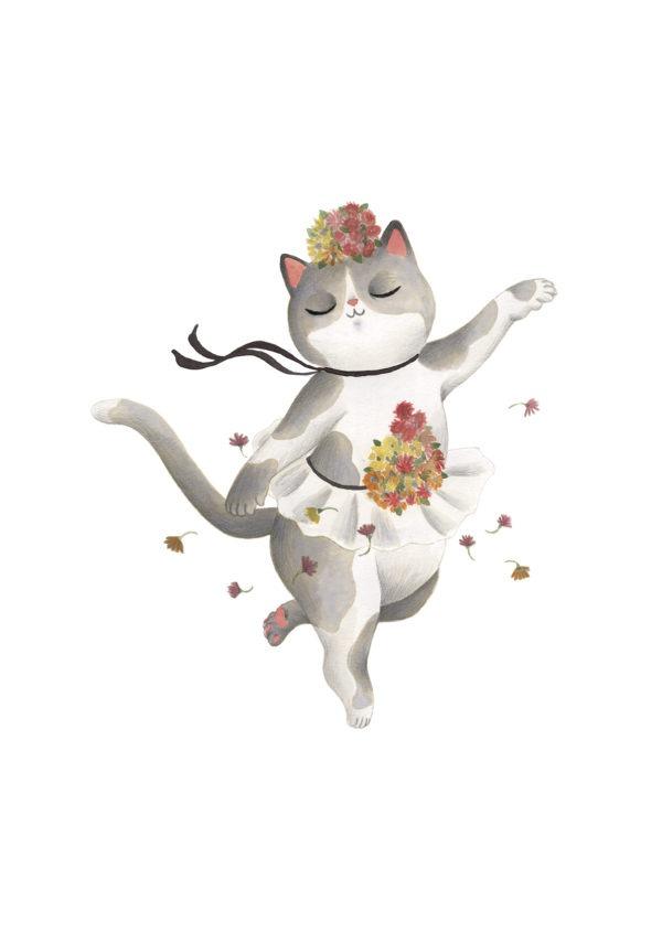 L'Etoile, Edgar Degas, bailarina Degas, ilustracion de gatos, comprar ilustracion de gatos,