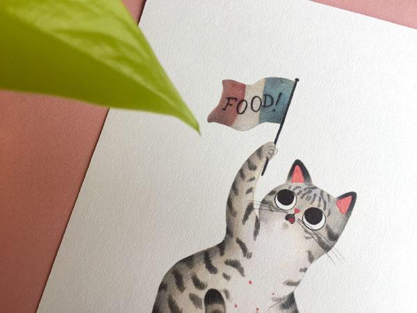 La libertad guiando al pueblo, Delacroix, ilustracion de gatos, comprar ilustracion de gatos,