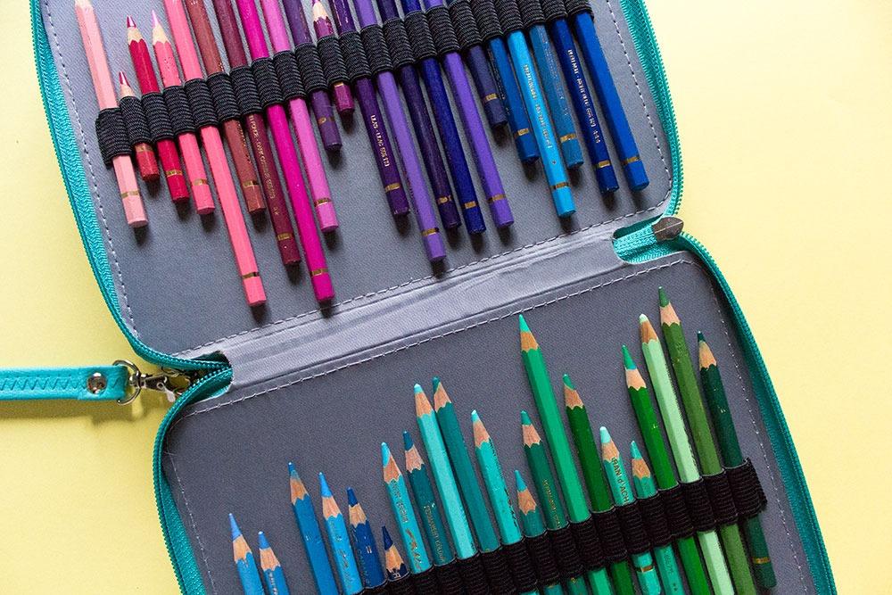 estuche de lápices de colores