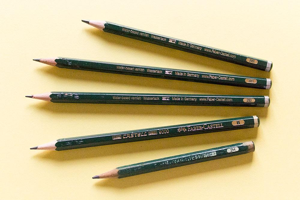 Los lápices son uno de los materiales para dibujar básicos